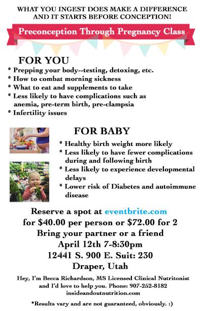 Pregnancy Class Flyer Back
